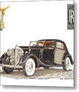 1938 Rolls Royce Phantom I I I Sedanca Deville Metal Print