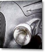 1938 Talbot-lago 150c Ss Figoni And Falaschi Cabriolet Headlight - Emblem -1554ac Metal Print