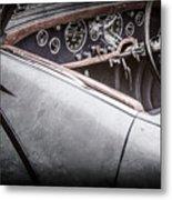 1938 Talbot-lago 150c Ss Figoni And Falaschi Cabriolet Steering Wheel -1561ac Metal Print