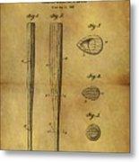 1939 Baseball Bat Patent Metal Print
