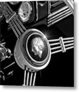 1939 Ford Standard Woody Steering Wheel 2 Metal Print