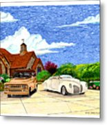 1939 Lincoln Zephyr  Family Home Metal Print