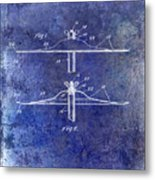 1940 Cymbal Patent Blue Metal Print