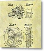 1940 Film Camera Patent Metal Print