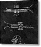 1940 Trumpet Patent Illustration Metal Print