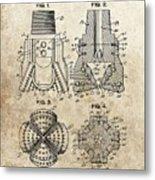 1940s Oil Drill Bit Patent Metal Print