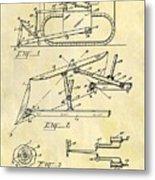 1941 Bulldozer Patent Metal Print