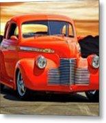 1941 Chevrolet Coupe 'reno Sunrise' Metal Print
