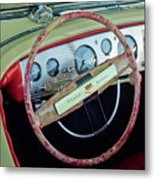 1941 Chrysler Newport Dual Cowl Phaeton Steering Wheel Metal Print