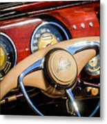 1941 Lincoln Continental Cabriolet V12 Steering Wheel Metal Print