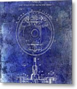 1941 Porsche Brake Mechanism Patent Blue  Metal Print