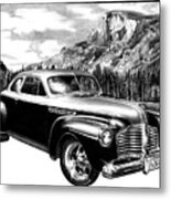 1941 Roadmaster - Half Dome Metal Print