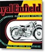 1941 Royal Enfield Motorcycle Ad Metal Print