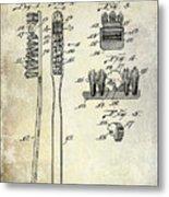 1941 Toothbrush Patent  Metal Print