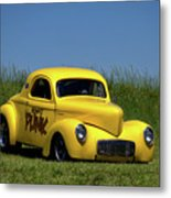 1941 Willys Coupe Dragster Metal Print