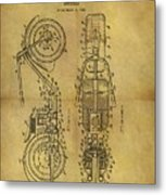 1942 Chopper Motorcycle Patent Metal Print