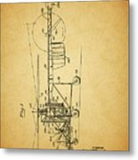1943 Helicopter Patent Metal Print