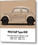 1943 Kdf Type 83e - Sand Metal Print