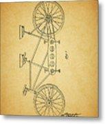 1945 Schwinn Tandem Bicycle Metal Print