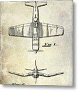 1946 Airplane Patent Metal Print