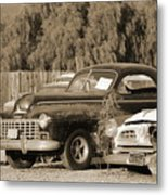 1946 Dodge In Sepia Metal Print
