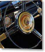 1947 Buick Eight Super Steering Wheel Metal Print