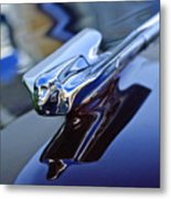 1947 Cadillac 62 Convertible Hood Ornament Metal Print