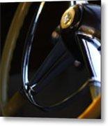 1947 Cadillac Model 62 Coupe Steering Wheel Metal Print