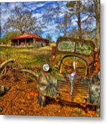 1947 Dodge Dump Truck Country Scene Art Metal Print