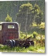 1947 Dodge Pickup Rain And Sun Metal Print