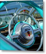 1947 Ford Deluxe Convertible Steering Wheel Metal Print
