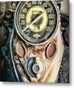 1947 Knucklehead Speedometer Metal Print