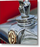 1947 Mg Tc Non-standard Hood Ornament Metal Print