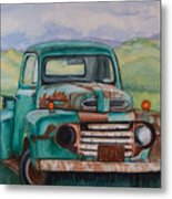 1948 Ford Pickup Rusty Gem  Metal Print