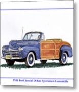 1948 Ford Sportsman Convertible Metal Print