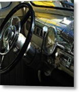 1948 Ford Super Deluxe Dash Metal Print