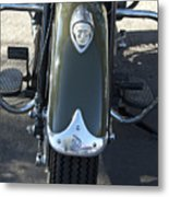 1948 Indian Chief Motorcycle Hood Ornament Metal Print