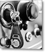 1948 Mg Tc Key Ring Black And White Metal Print
