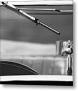 1948 Mg Tc Rear View Mirror Black And White Metal Print
