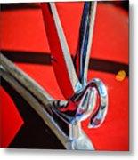 1948 Packard Hood Ornament 2 Metal Print by Jill Reger
