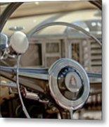 1948 Plymouth Deluxe Steering Wheel Metal Print