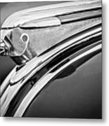1948 Pontiac Chief Hood Ornament 2 Metal Print by Jill Reger