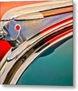 1948 Pontiac Chief Hood Ornament Metal Print by Jill Reger