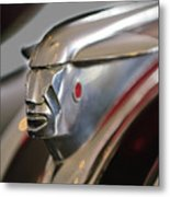 1948 Pontiac Streamliner Woody Wagon Hood Ornament 2 Metal Print