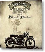 1948 Vincent Black Shadow Metal Print