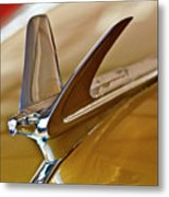 1949 Chevrolet Fleetline Hood Ornament Metal Print