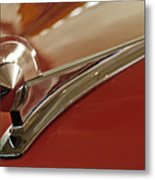 1949 Ford Custom Hood Ornament Metal Print