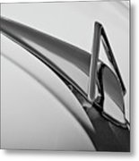 1949 Hudson Super Six  Hood Ornament -0436bw Metal Print