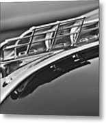 1949 Plymouth Hood Ornament 2 Metal Print by Jill Reger