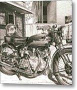 1949 Vincent Rapide Hrd Metal Print